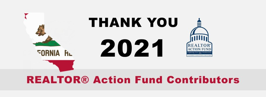 Thank You 2021 REALTOR® Action Fund Contributors