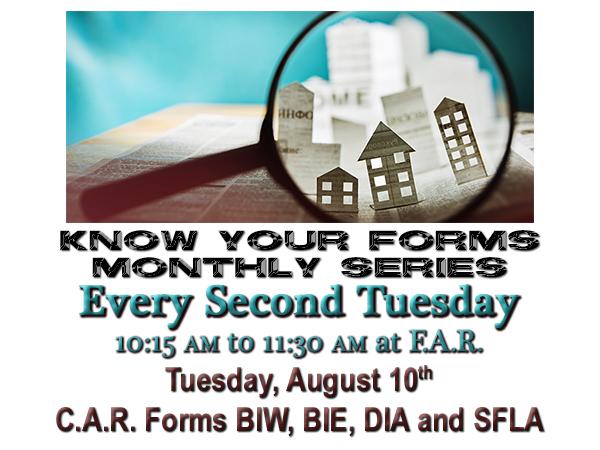 Know Your Forms – BIW BIE DIA SFLA 08.10.21